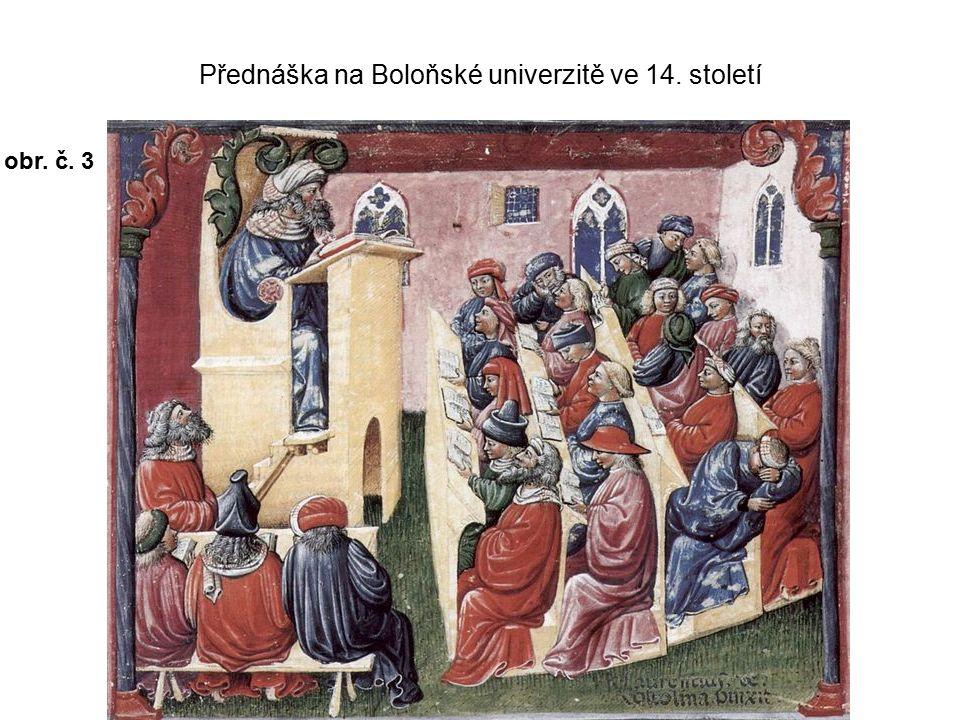 Přednáška na Boloňské univerzitě ve 14. století obr. č. 3