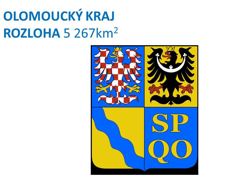 OLOMOUCKÝ KRAJ ROZLOHA 5 267km 2
