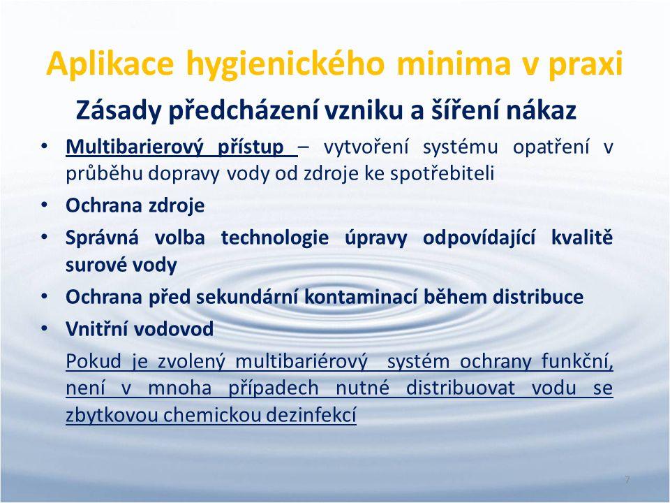 Aplikace hygienického minima v praxi Zásady předcházení vzniku a šíření nákaz Multibarierový přístup – vytvoření systému opatření v průběhu dopravy vo