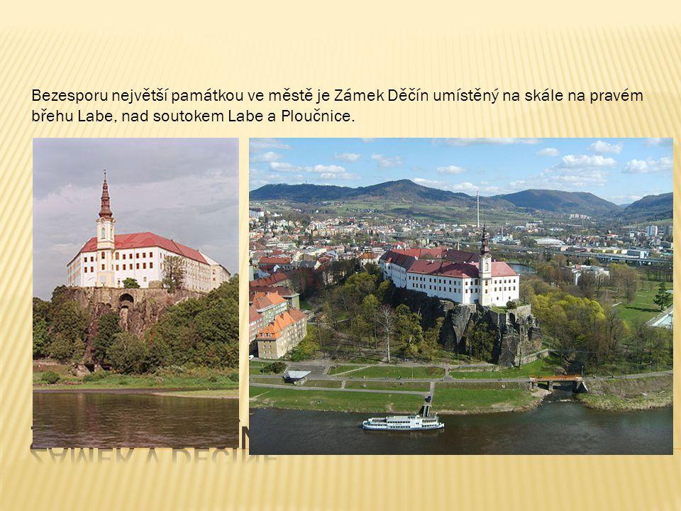 Bezesporu největší památkou ve městě je Zámek Děčín umístěný na skále na pravém břehu Labe, nad soutokem Labe a Ploučnice.