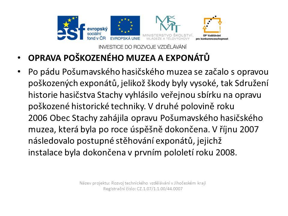 Název projektu: Rozvoj technického vzdělávání v Jihočeském kraji Registrační číslo: CZ.1.07/1.1.00/44.0007 Praga RN 1955