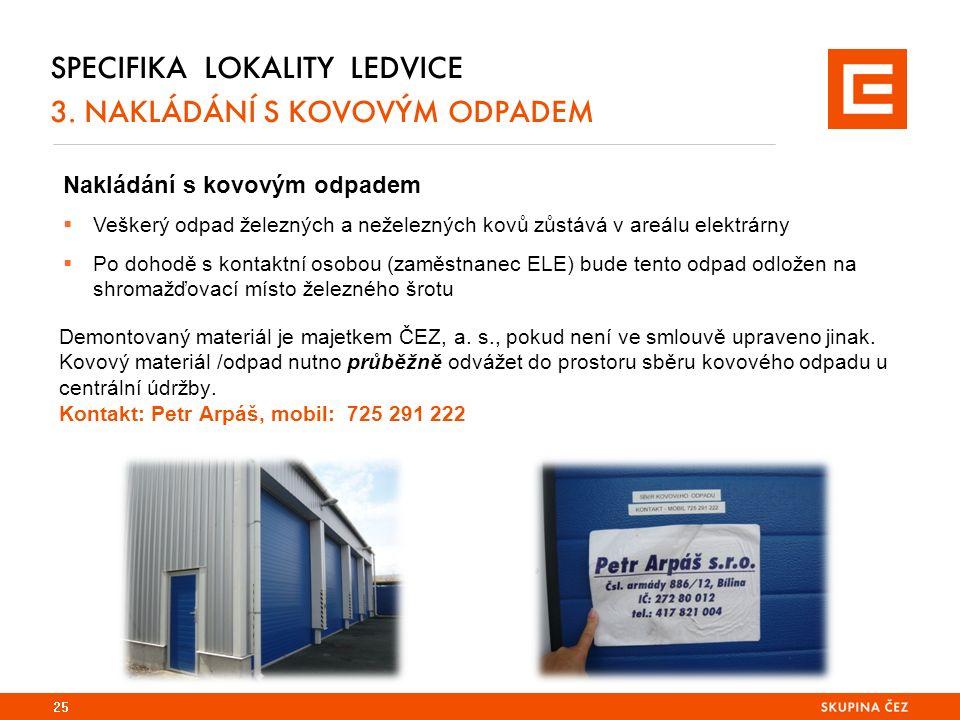 25 SPECIFIKA LOKALITY LEDVICE 3.