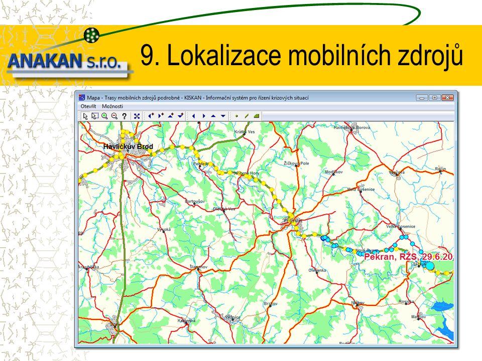 9. Lokalizace mobilních zdrojů