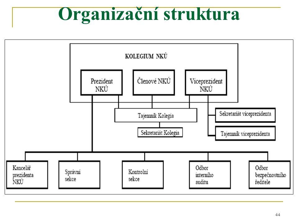 44 Organizační struktura