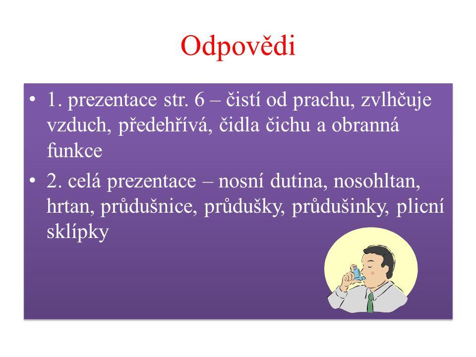 Odpovědi 1. prezentace str.