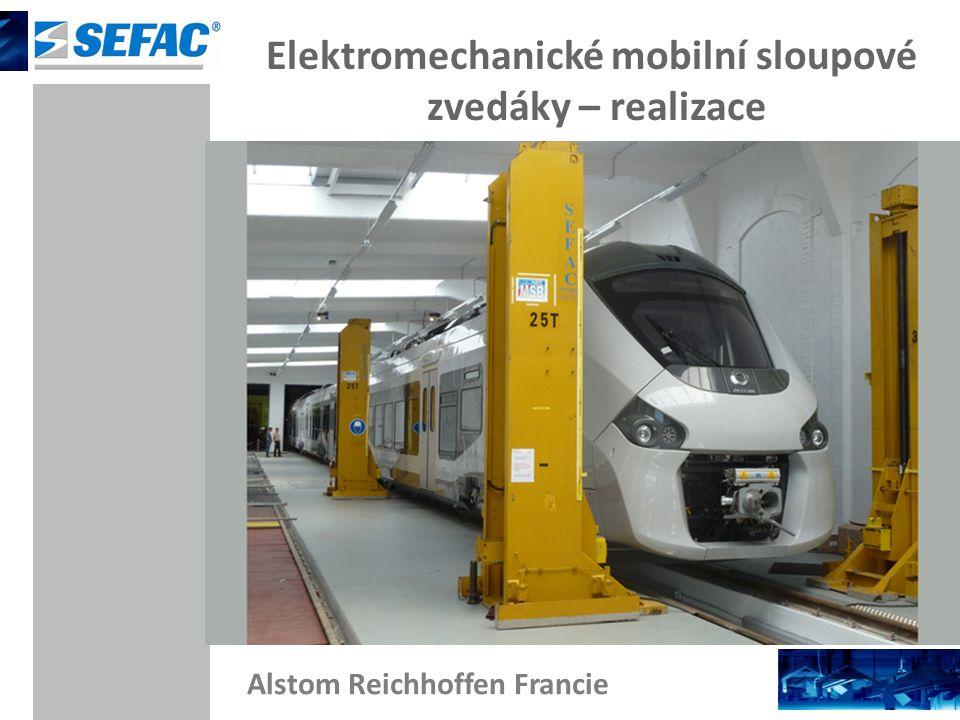 Elektromechanické mobilní sloupové zvedáky – realizace Alstom Reichhoffen Francie