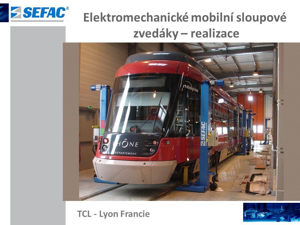 Elektromechanické mobilní sloupové zvedáky – realizace TCL - Lyon Francie