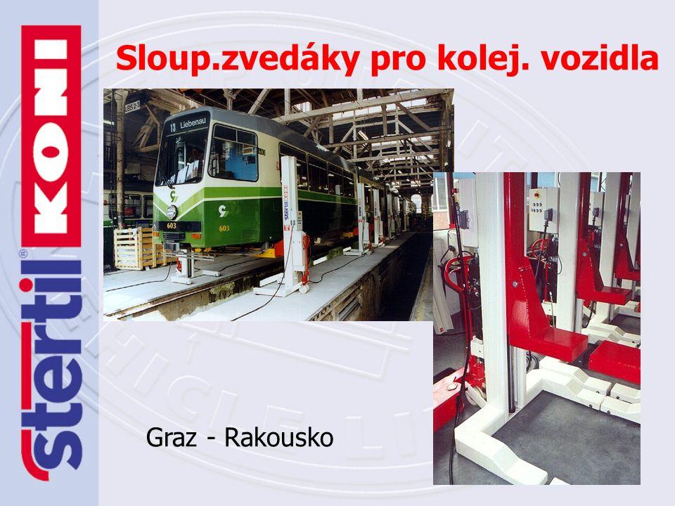 Elektromechanické mobilní sloupové zvedáky – realizace Kier Rail