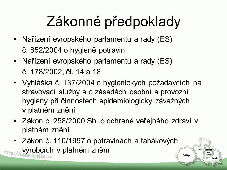 Zákonné předpoklady Nařízení evropského parlamentu a rady (ES) č.
