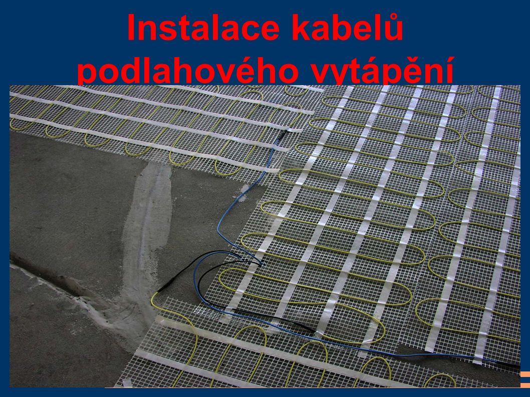 Instalace kabelů podlahového vytápění