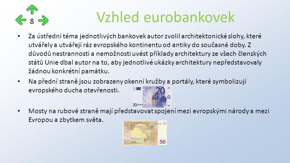 Za ústřední téma jednotlivých bankovek autor zvolil architektonické slohy, které utvářely a utvářejí ráz evropského kontinentu od antiky do současné doby.