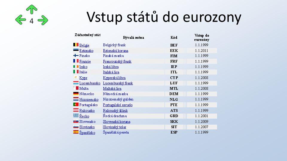 Vstup států do eurozony 4