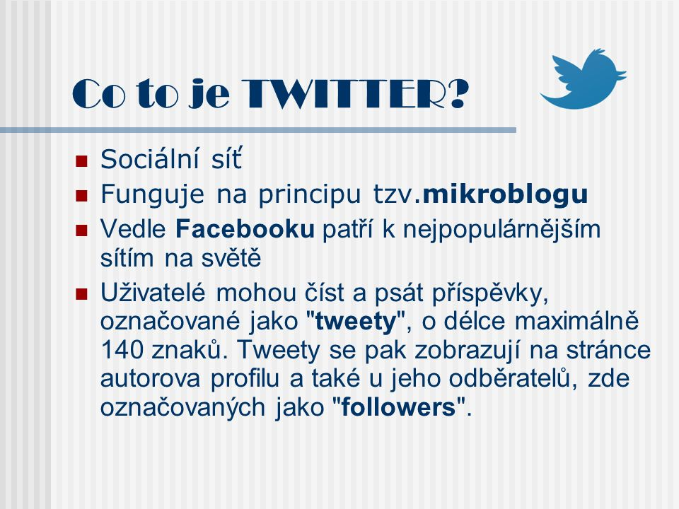 Co to je TWITTER.