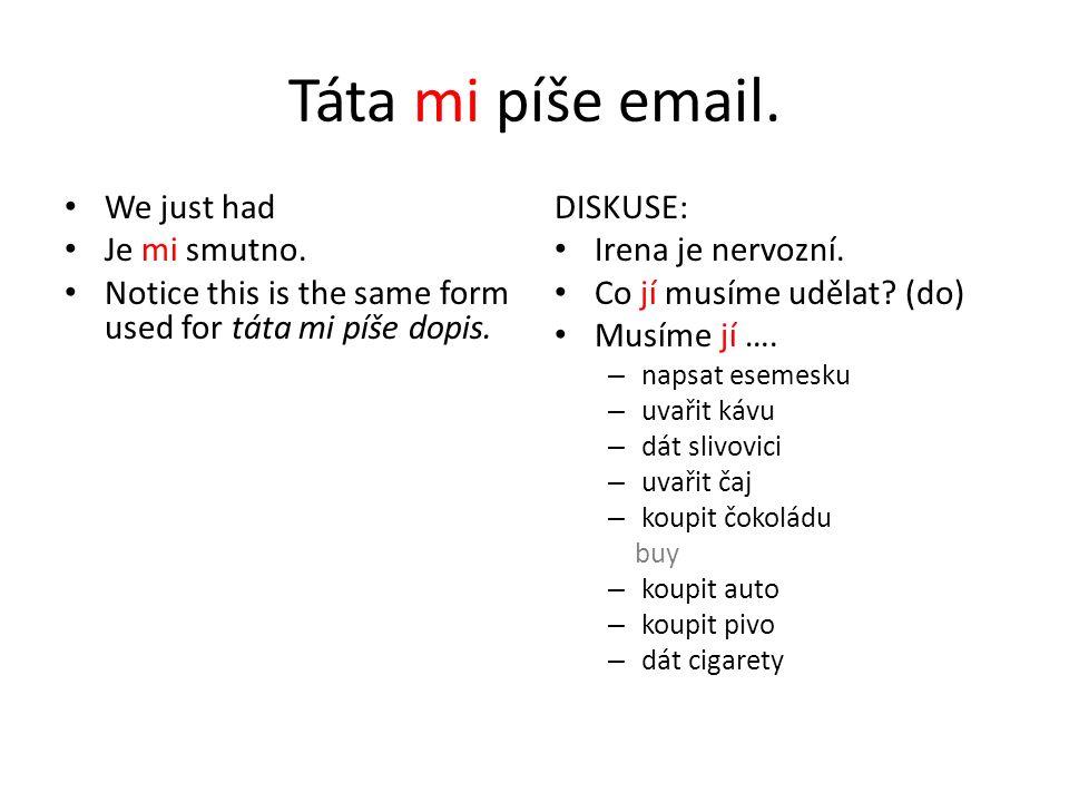 WRITE – two ways to look at the action Píšu vs.napíšu Vařím vs.