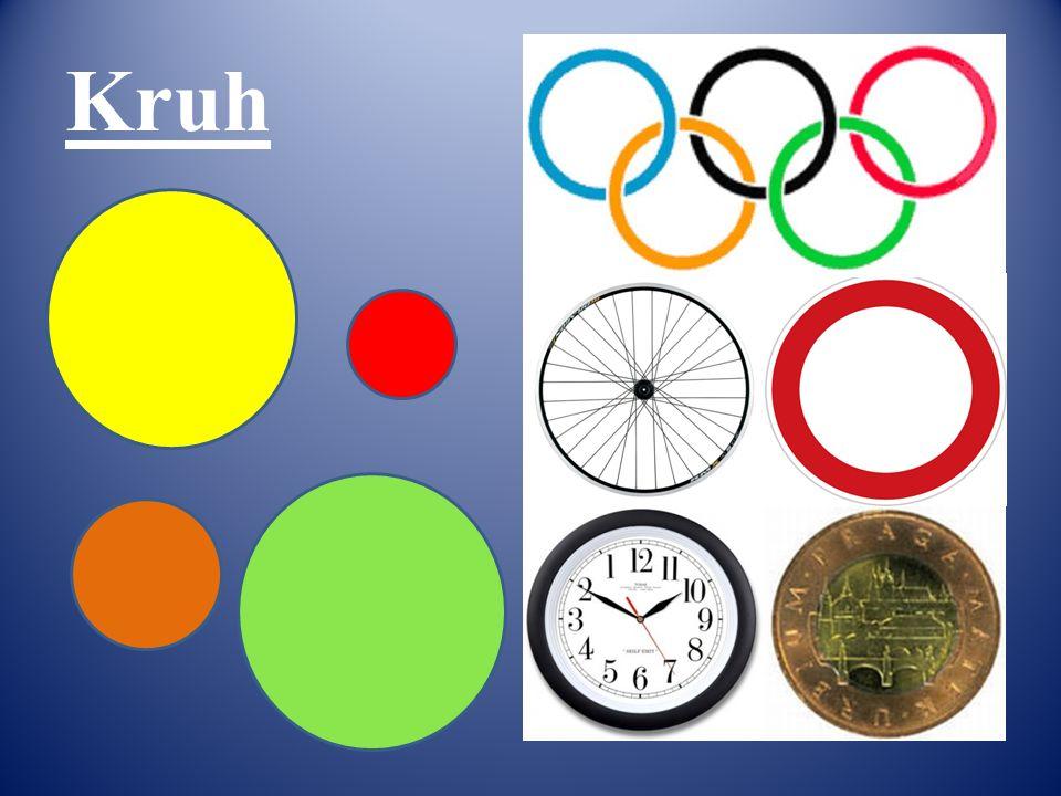 Vymaluj tvary: TROJÚHELNÍKY – červeně ČTVERCE – žlutě OBDÉLNÍKY – zeleně KRUHY - oranžově