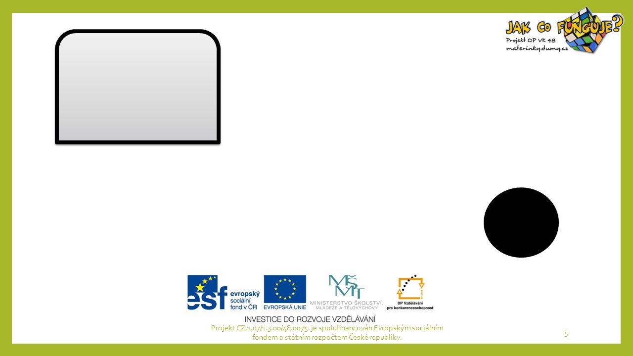 Projekt CZ.1.07/1.3.00/48.0075 je spolufinancován Evropským sociálním fondem a státním rozpočtem České republiky. 5