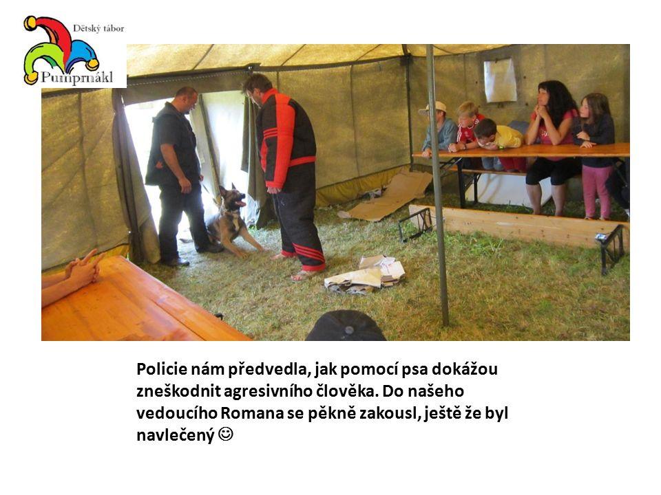 Policie nám předvedla, jak pomocí psa dokážou zneškodnit agresivního člověka.
