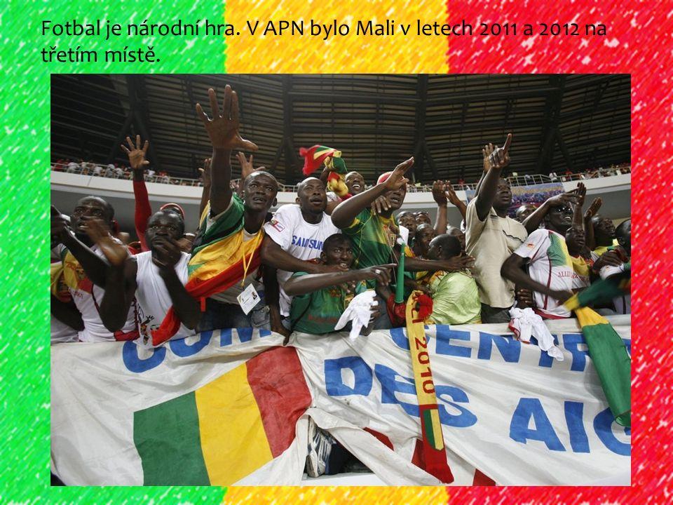 Fotbal je národní hra. V APN bylo Mali v letech 2011 a 2012 na třetím místě.