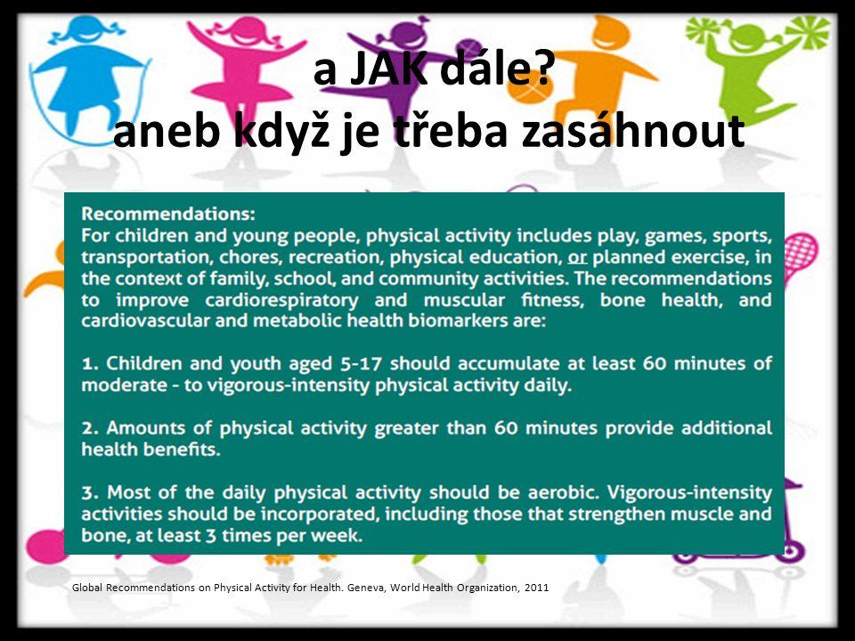 a JAK dále. aneb když je třeba zasáhnout Global Recommendations on Physical Activity for Health.