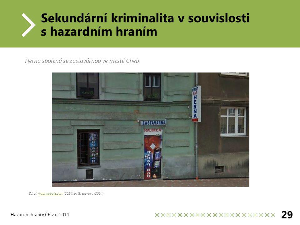 Hazardní hraní v ČR v r.
