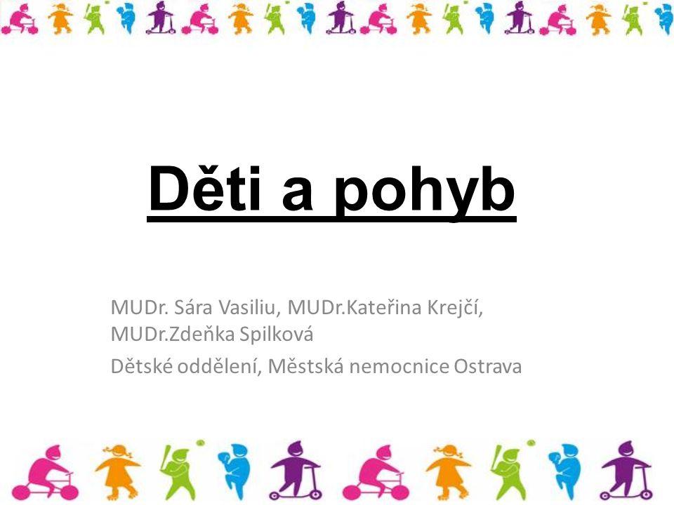 Děti a pohyb MUDr. Sára Vasiliu, MUDr.Kateřina Krejčí, MUDr.Zdeňka Spilková Dětské oddělení, Městská nemocnice Ostrava