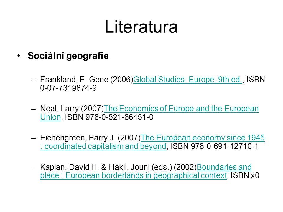 Literatura Rozšiřující –Eckart, Karl, et al.