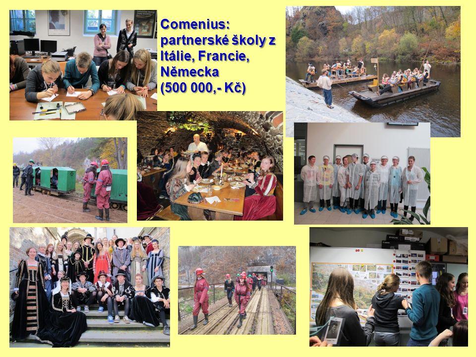 Comenius: partnerské školy z Itálie, Francie, Německa (500 000,- Kč)