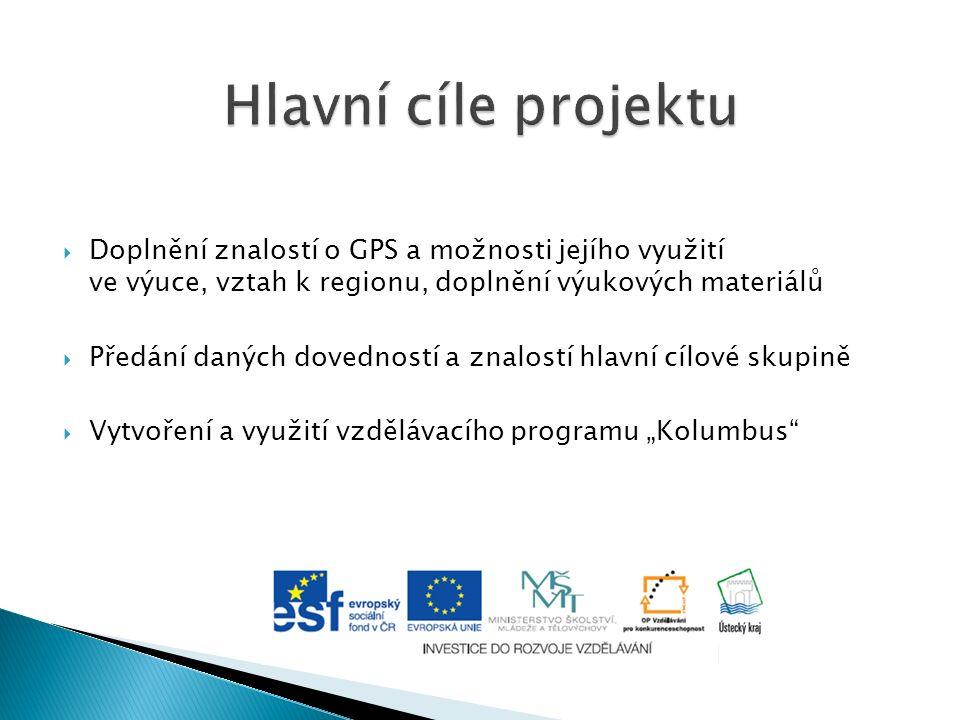  Doplnění znalostí o GPS a možnosti jejího využití ve výuce, vztah k regionu, doplnění výukových materiálů  Předání daných dovedností a znalostí hla