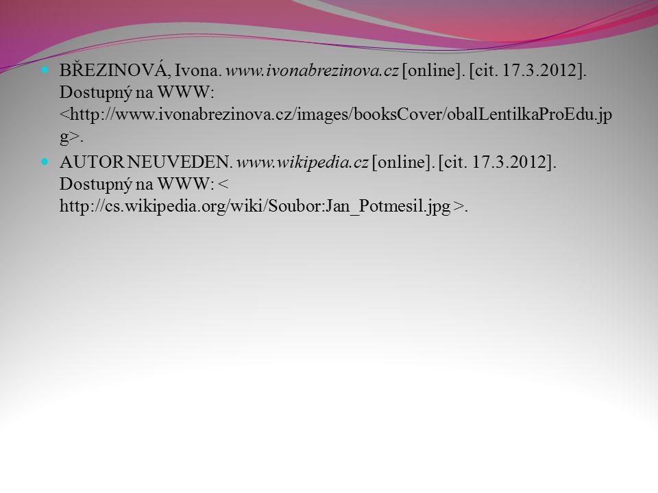 AUTOR NEUVEDEN. www.wikipedia.cz [online]. [cit. 17.3.2012]. Dostupný na WWW:.