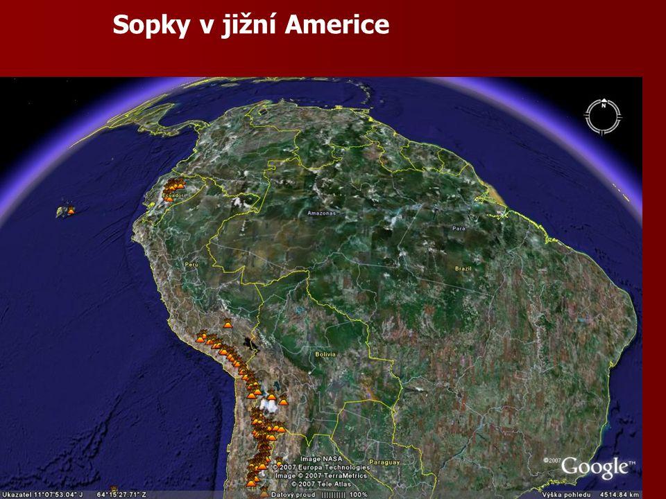 Sopky v jižní Americe