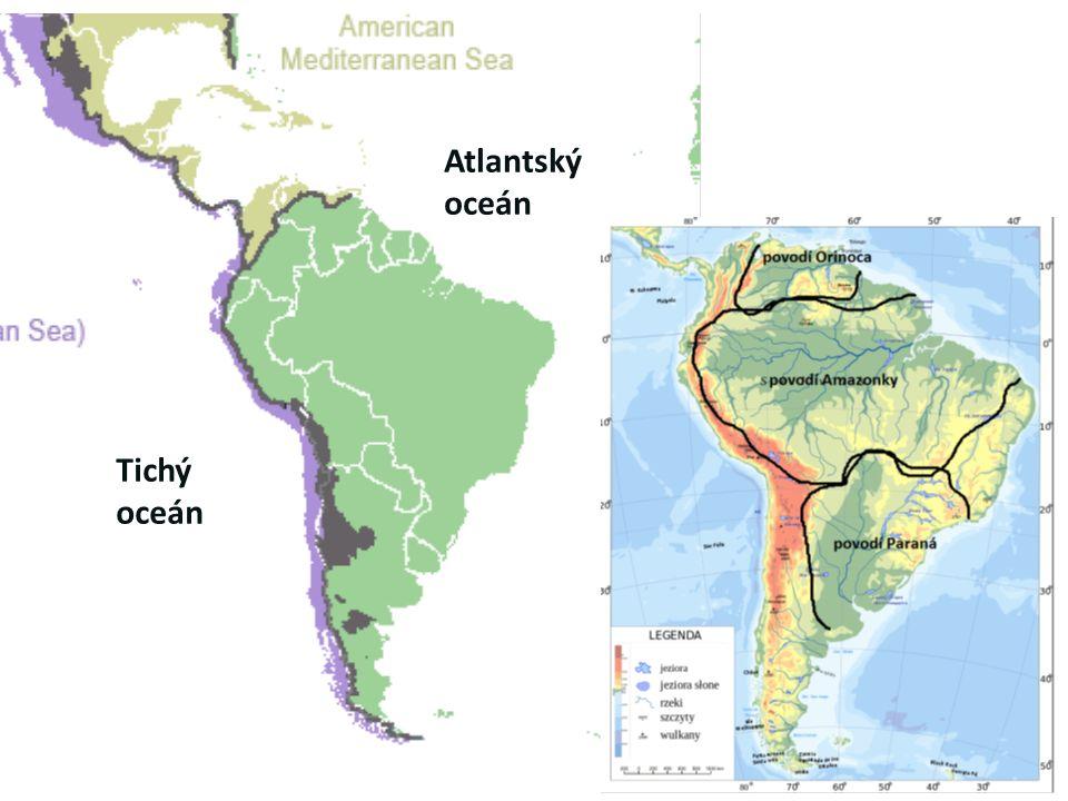 Atlantský oceán Tichý oceán