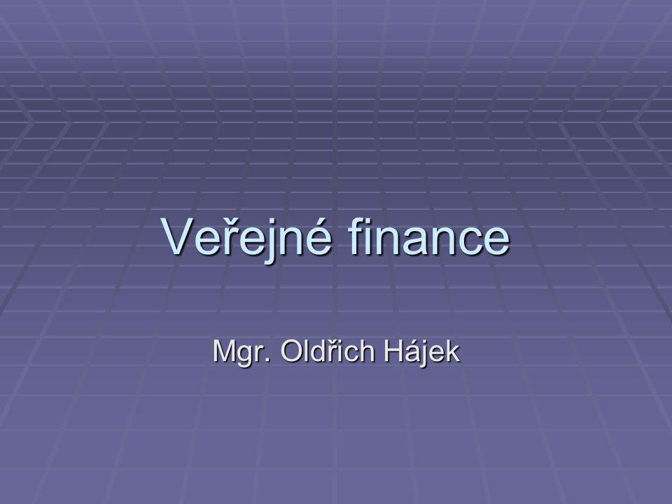 Veřejné finance Mgr. Oldřich Hájek