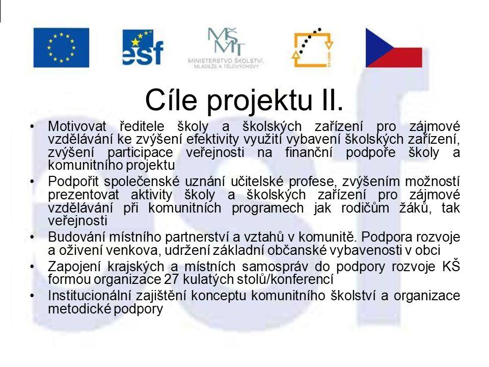 Cíle projektu II.