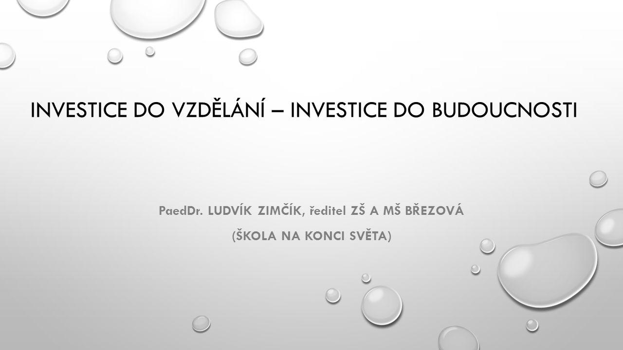 INVESTICE DO VZDĚLÁNÍ – INVESTICE DO BUDOUCNOSTI PaedDr.