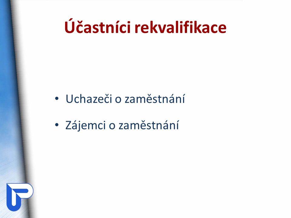 Účastníci rekvalifikace Uchazeči o zaměstnání Zájemci o zaměstnání