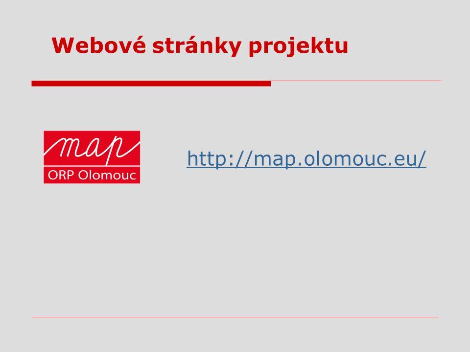 Webové stránky projektu http://map.olomouc.eu/