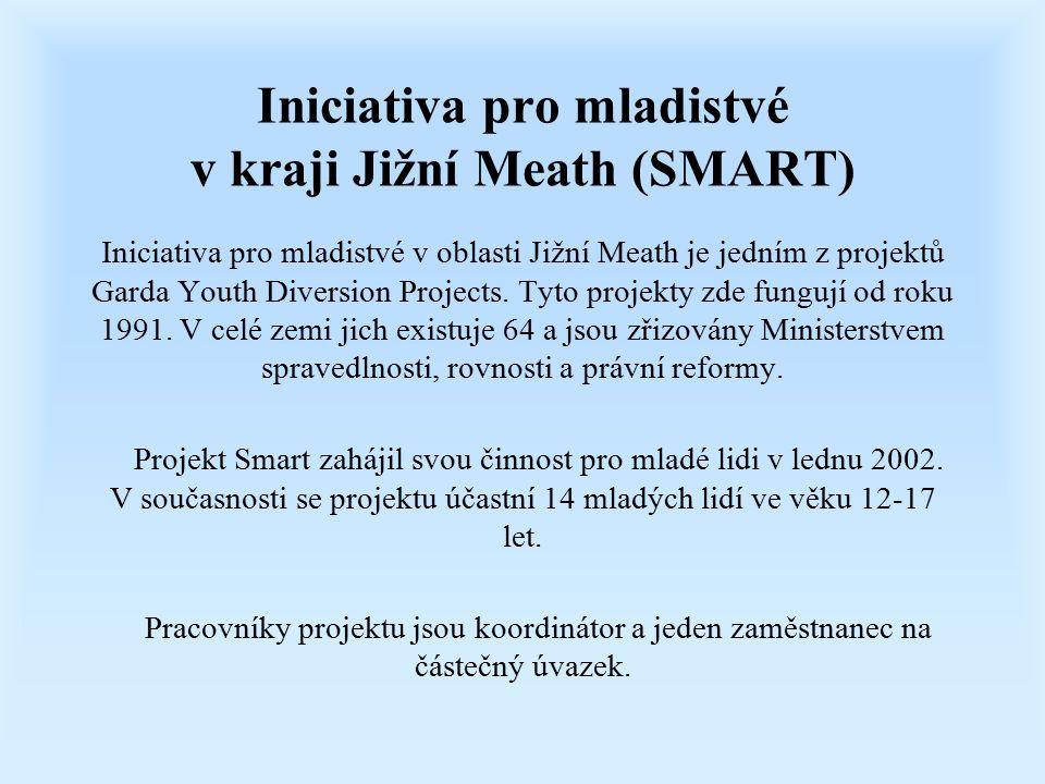 Iniciativa pro mladistvé v kraji Jižní Meath (SMART) Iniciativa pro mladistvé v oblasti Jižní Meath je jedním z projektů Garda Youth Diversion Projects.