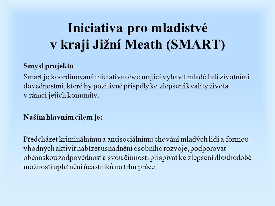 Iniciativa pro mladistvé v kraji Jižní Meath (SMART) Smysl projektu Smart je koordinovaná iniciativa obce mající vybavit mladé lidi životními dovednos