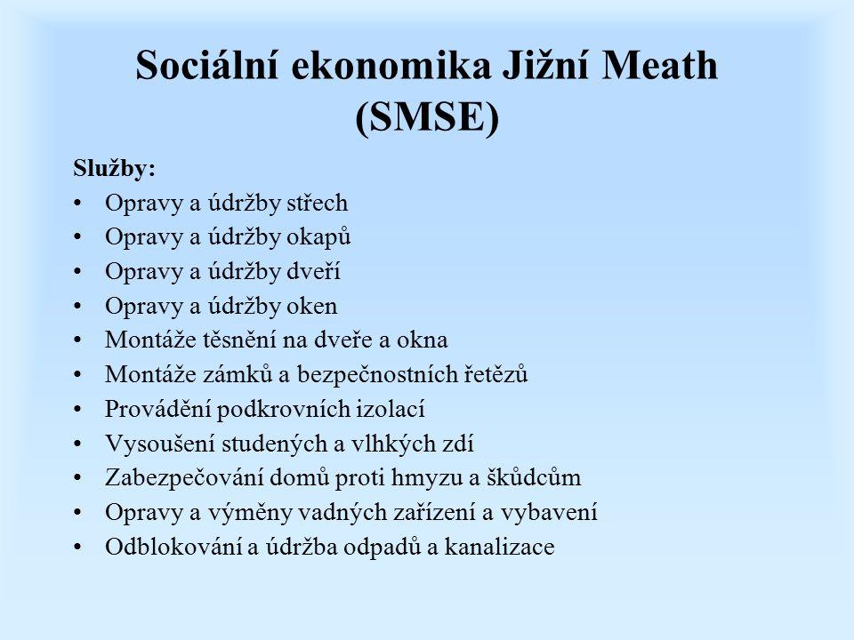 Sociální ekonomika Jižní Meath (SMSE) Služby: Opravy a údržby střech Opravy a údržby okapů Opravy a údržby dveří Opravy a údržby oken Montáže těsnění
