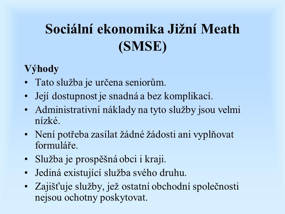 Sociální ekonomika Jižní Meath (SMSE) Výhody Tato služba je určena seniorům. Její dostupnost je snadná a bez komplikací. Administrativní náklady na ty