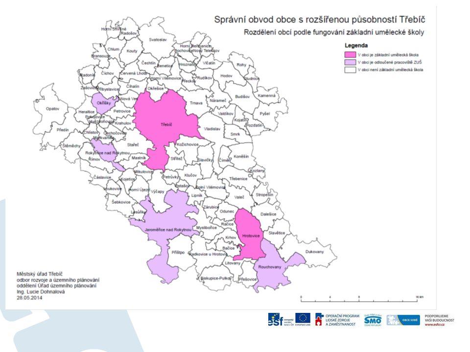 """Zařízení sociálních služeb na území ORP Třebíč – dle """"Registru poskytovatelů sociálních služeb Název zařízeníRegistrované sociální službySídlo 21."""