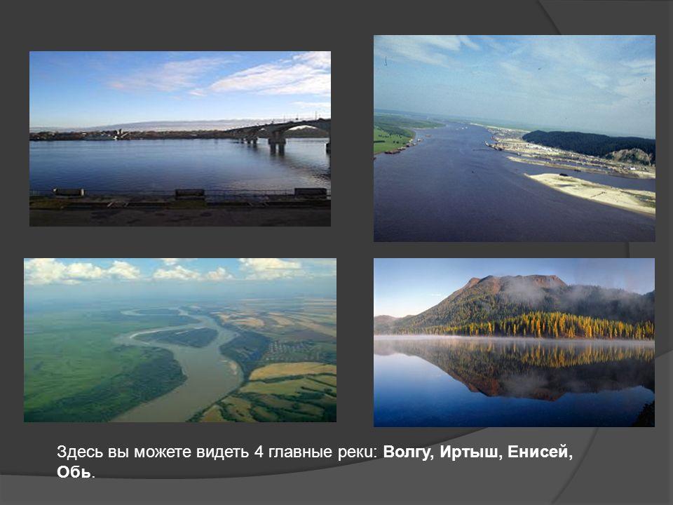 Здесь вы можете видеть 4 главные рекu: Волгу, Иртыш, Енисей, Обь.