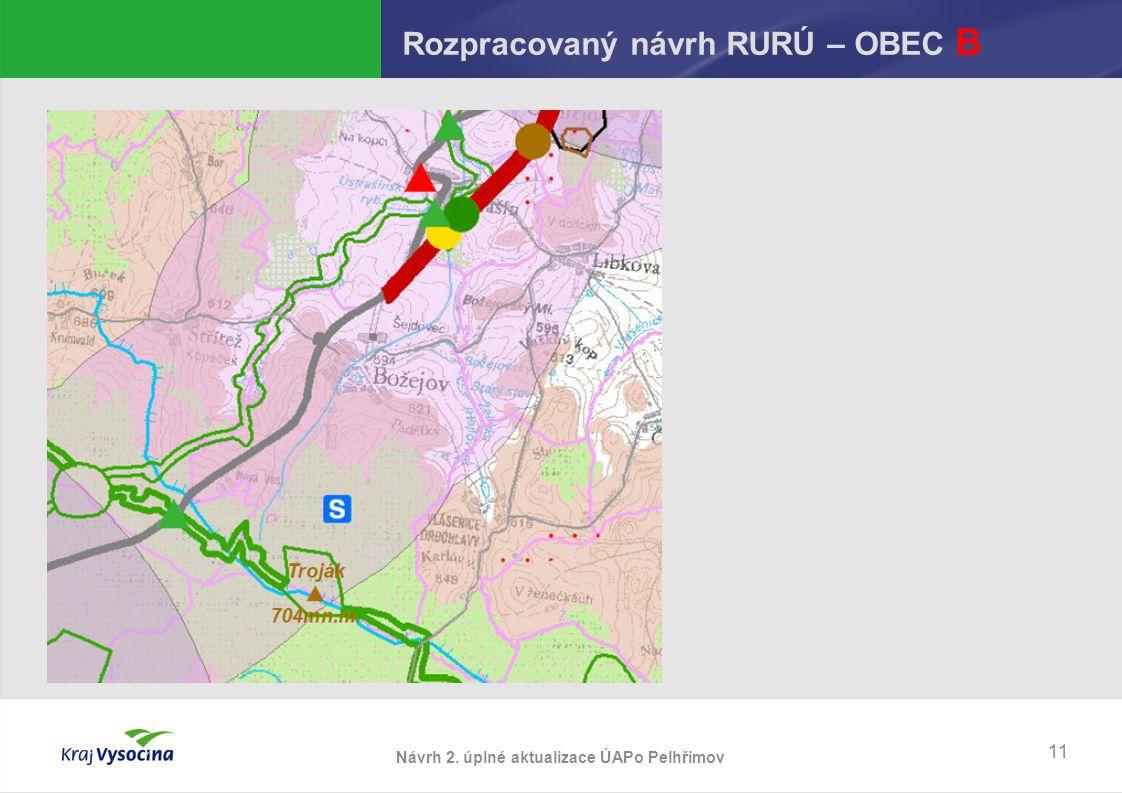 Návrh 2. úplné aktualizace ÚAPo Pelhřimov Rozpracovaný návrh RURÚ – OBEC B 11