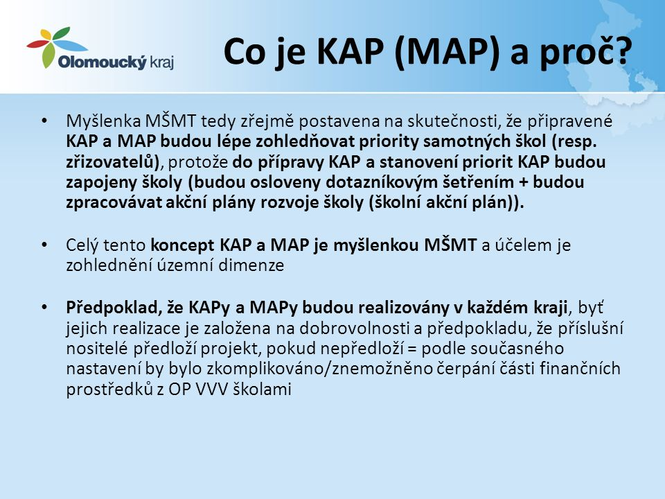 Co je KAP (MAP) a proč.