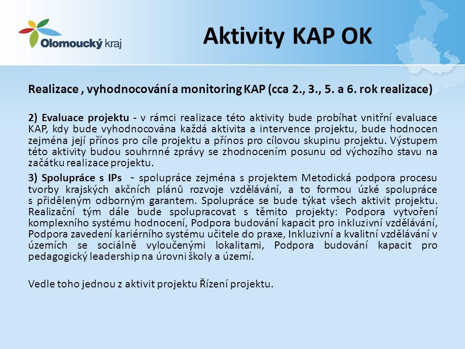 Realizace, vyhodnocování a monitoring KAP (cca 2., 3., 5.