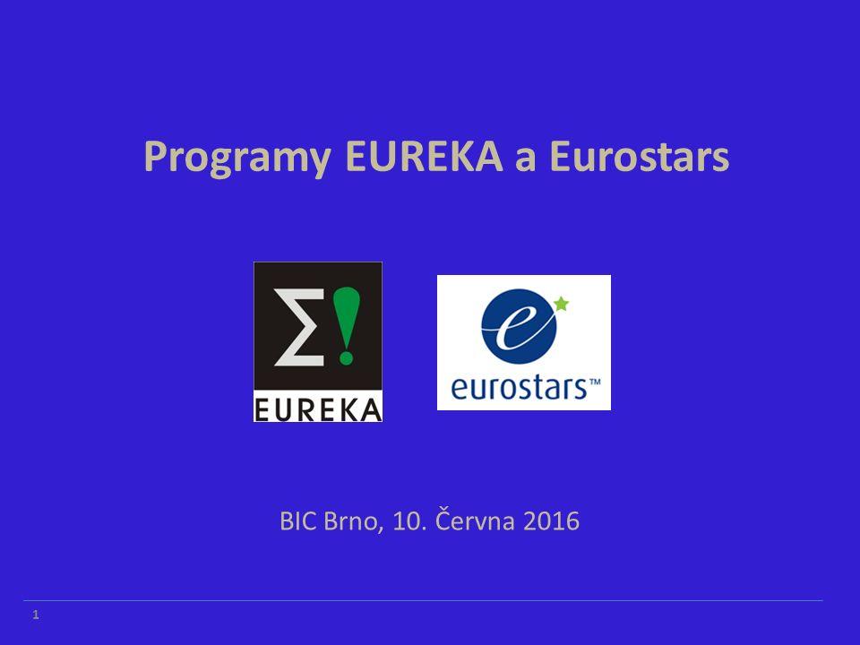 BIC Brno, 10. Června 2016 Programy EUREKA a Eurostars 1
