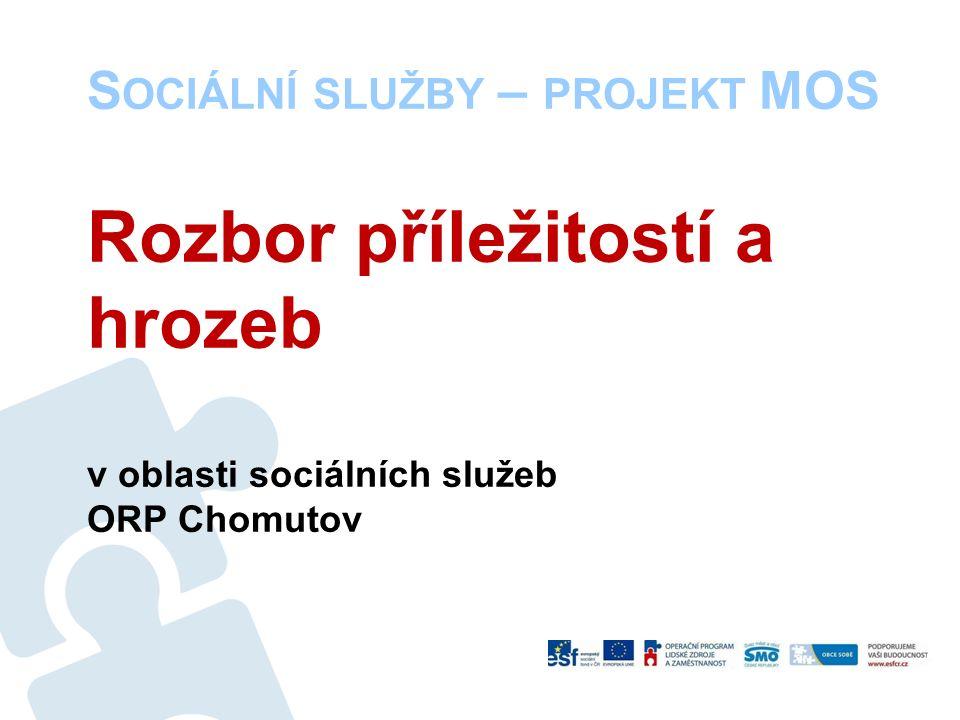 S OCIÁLNÍ SLUŽBY – PROJEKT MOS Rozbor příležitostí a hrozeb v oblasti sociálních služeb ORP Chomutov