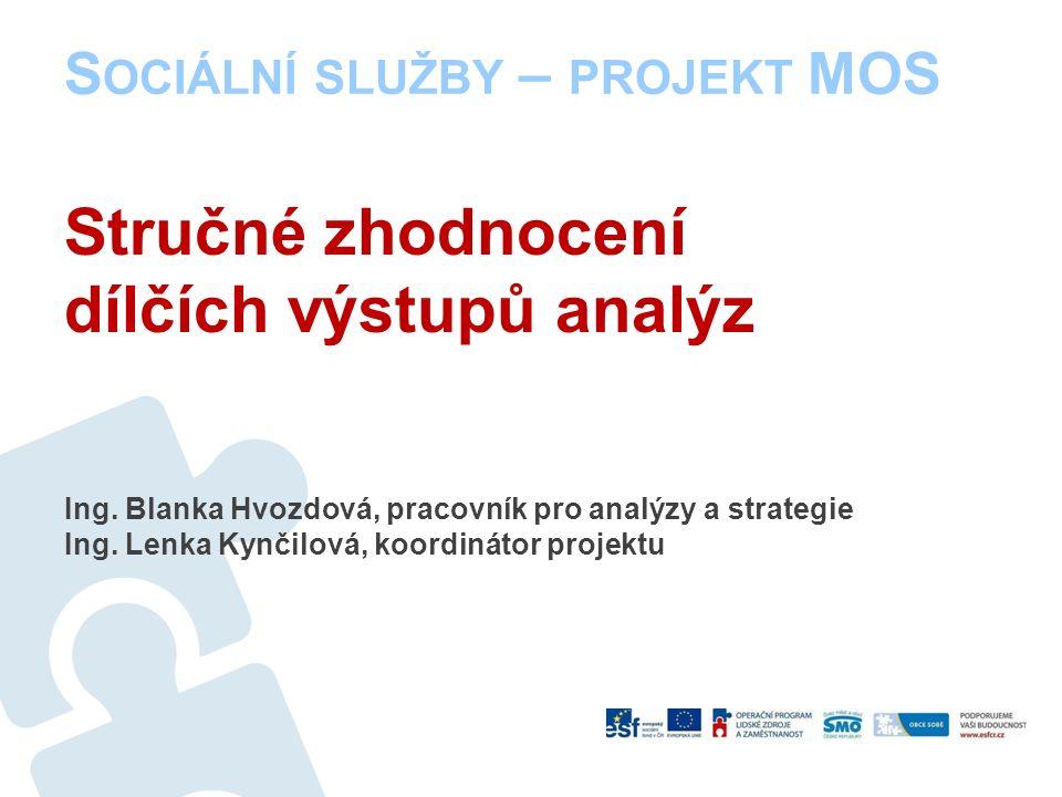 S OCIÁLNÍ SLUŽBY – PROJEKT MOS Představení projektu Kontext a cíl –Projekt je zpracován na základě smlouvy o spolupráci se SMOČR.