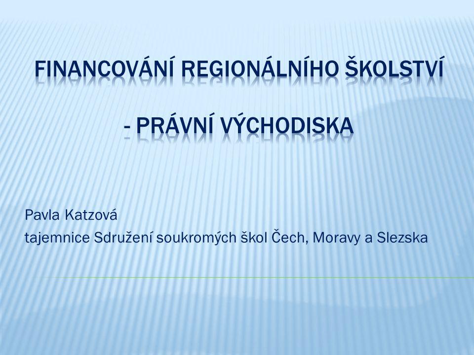 Pavla Katzová tajemnice Sdružení soukromých škol Čech, Moravy a Slezska