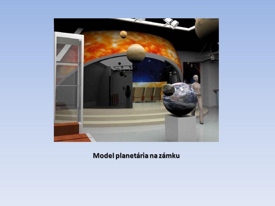 Model planetária na zámku